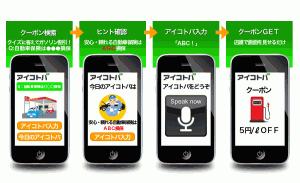 「しゃべる広告連動クーポン」サービスイメージ