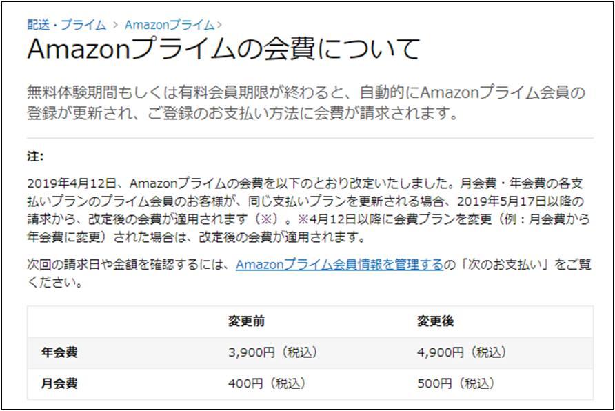 変更 アマゾン プライム 会費